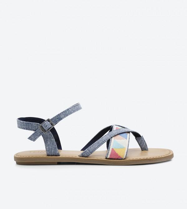 Home  Lexie Ankle Strap Sandals - Blue 10011786. 10011786-BLUE