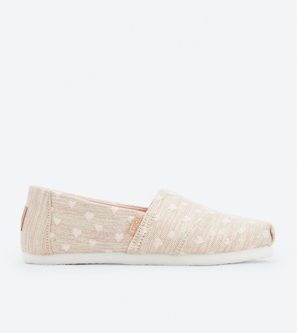 0c3a2358e076 Toms Heartsy Glimmer Embroidery Classics Espadrilles - Rose Gold