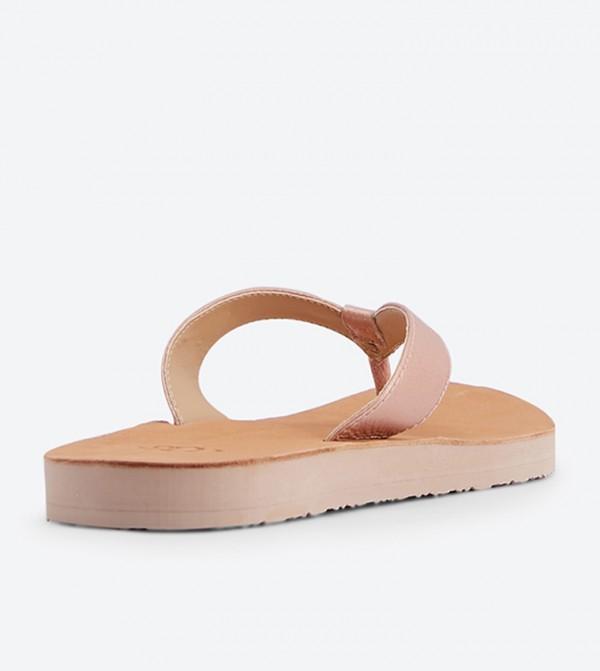 cac361b8bc7 Tawney Metallic Round Toe Flip Flop - Rose Gold
