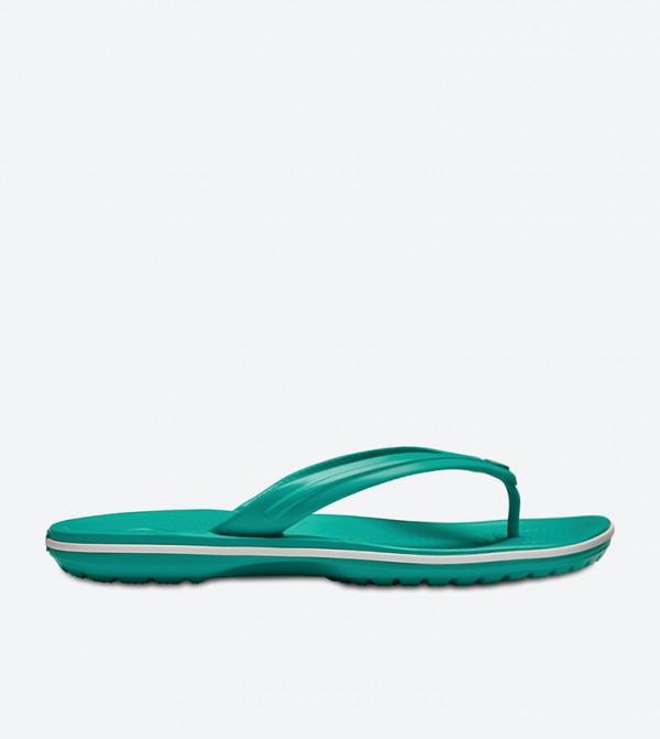 8c908fc41d4bec Home  Crocband Flip Flops - Green 11033-38O. 11033-38O-TROPL-TEL-WHT