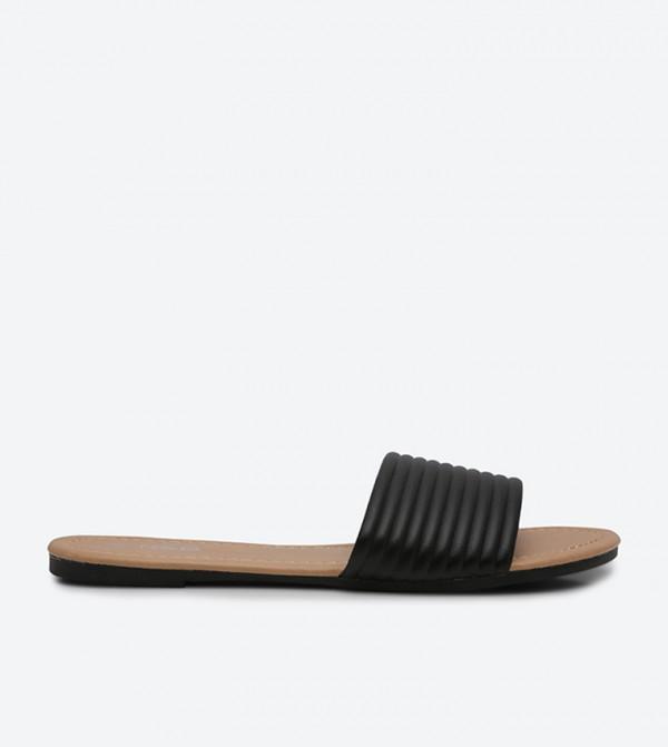 235d33cf6 Home  Basic Slide Sandals - Black. 118-0271FL002-2-RB-BLACK