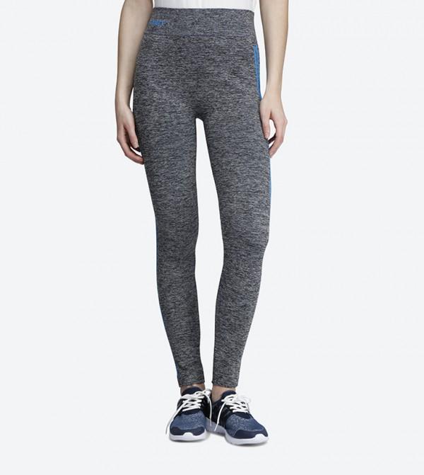 417db9e1f84595 Skinny Fit Contrast Stripes Leggings - Blue 118-0310WY005-4