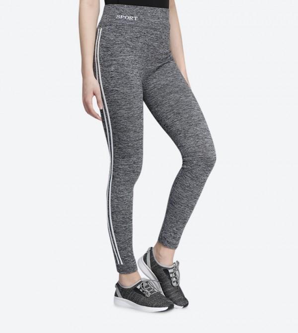 113f458471dd46 Skinny Fit Contrast Stripes Leggings - White 118-0310WY005-4