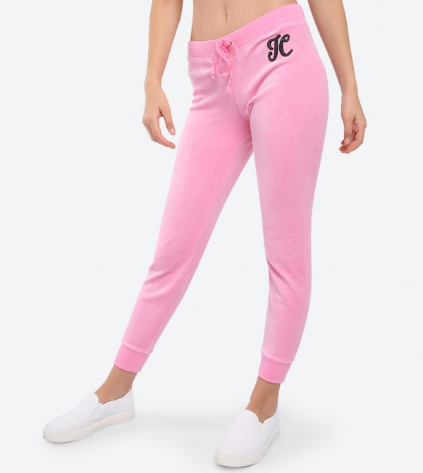 697235cef79ca Juicy Couture Ombre Crystal Burst Velour Zuma Pants - Pink 128 ...