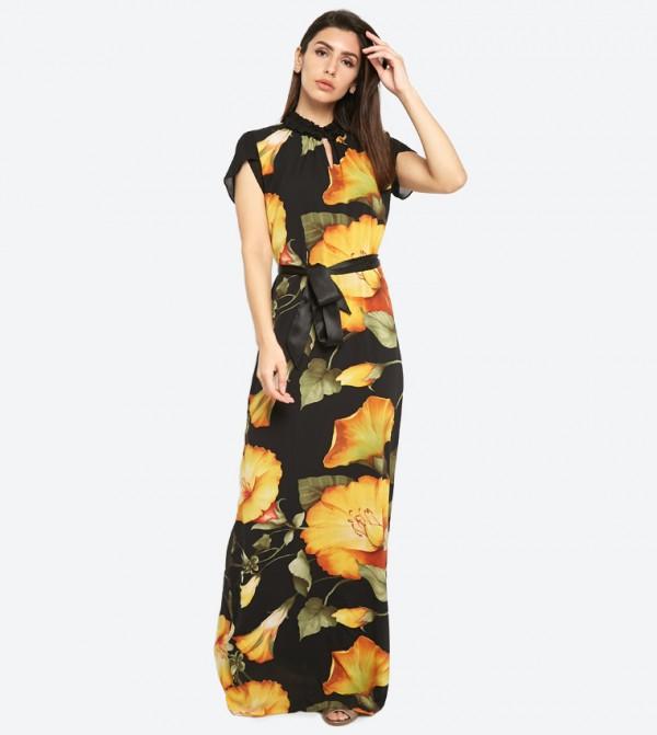 9281df0e8456b Seden Floral Print Chiffon Maxi Dress - Multi