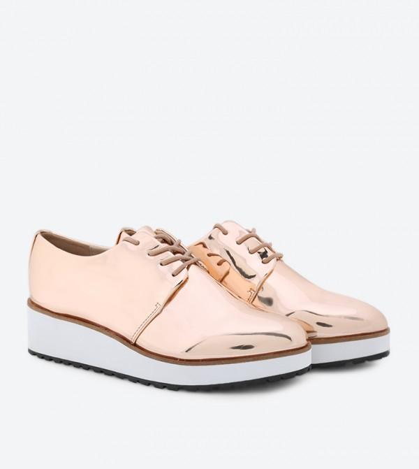 e616ce081579 Lovirede Lace-Up Shoes - Metallic