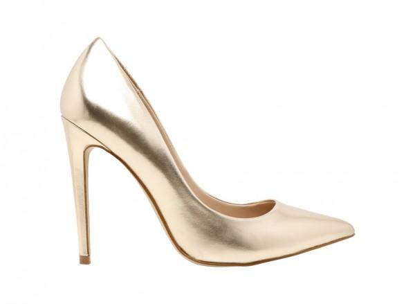 حذاء هانريتّا عالي الكعب ذهبي