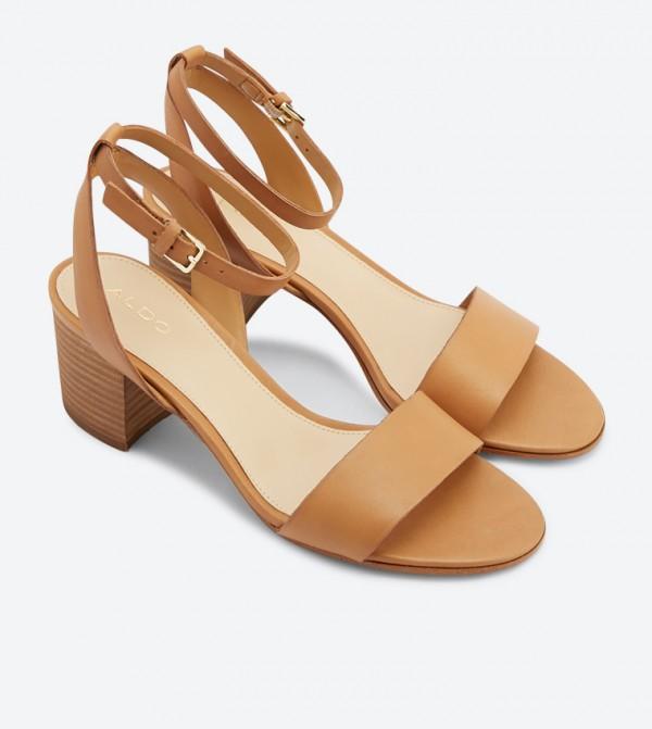 1730047c2a Doreclya Ankle Strap Block Heel Sandals - Cognac 20120502-DORECLYA