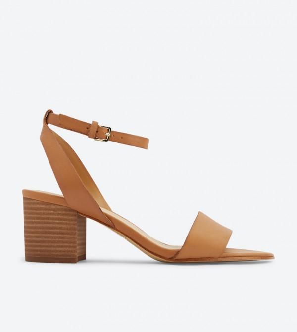 eeccfe9474 Home; Doreclya Ankle Strap Block Heel Sandals - Cognac 20120502-DORECLYA.  20120502-DORECLYA-COGNAC