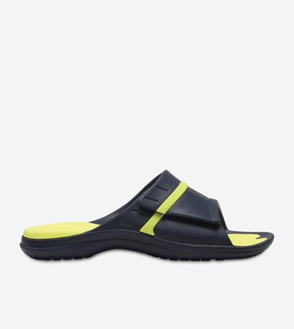 d60c55eefd76 Home  Modi Sport Slide Sandals - Navy 204144-4G0. 204144-4G0-NV-TNIS-GRN