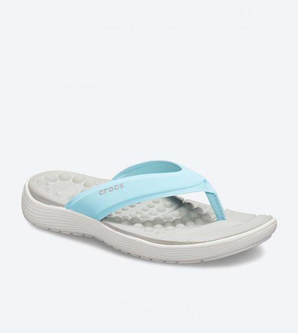 f9fd3577cbf4 Crocs Reviva Stylish Upper Round Toe Flip Flops - Blue