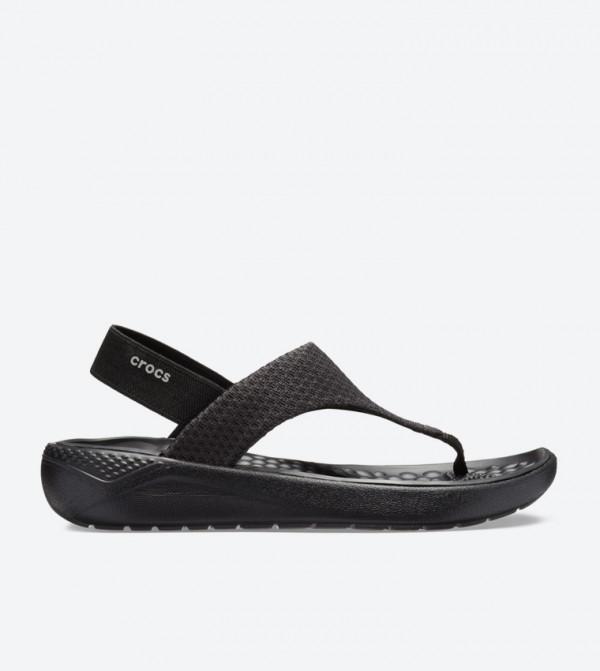 3bc5775768ba Crocs Literide Mesh Slingback Sandals - Black 205477-060