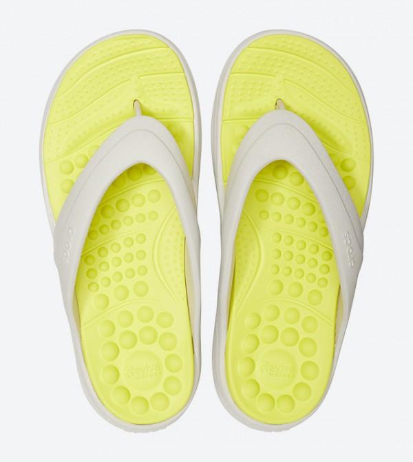 d8b1640c17af Crocs Reviva Stylish Upper Round Toe Flip Flops - Yellow