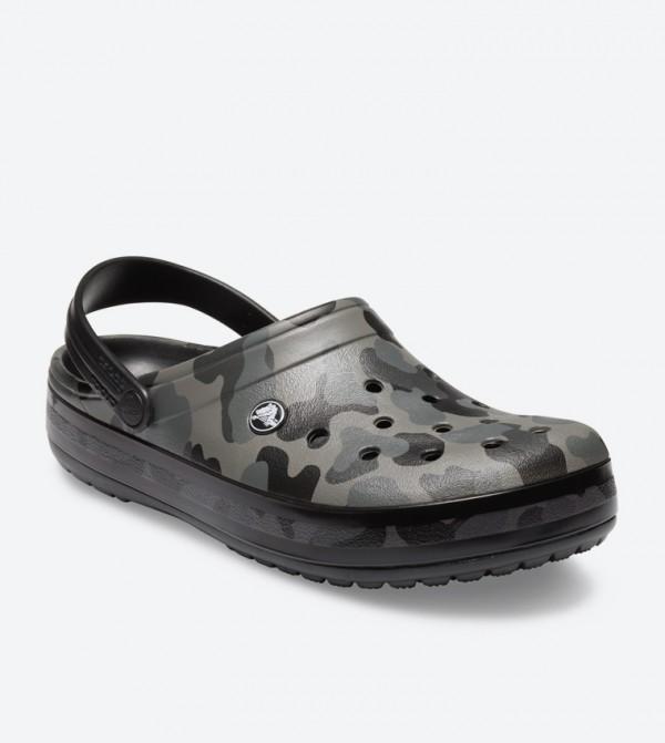 8a981e8fe Crocband Seasonal Graphic Clogs - Grey 205579-0DY