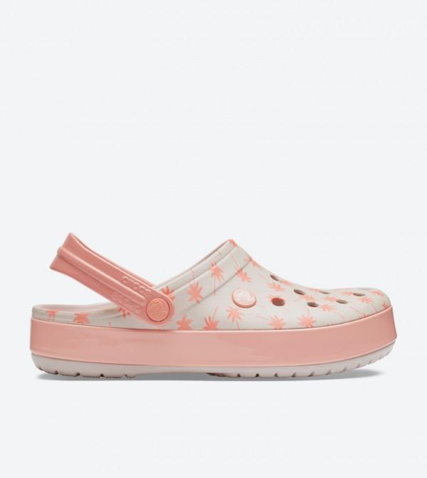 57f4b7644ef5 Crocs Crocband Seasonal Graphic Clogs - Light Pink 205579-6PR