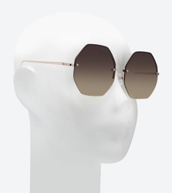 2952e76ad نظارات شمسية بلون ذهبي