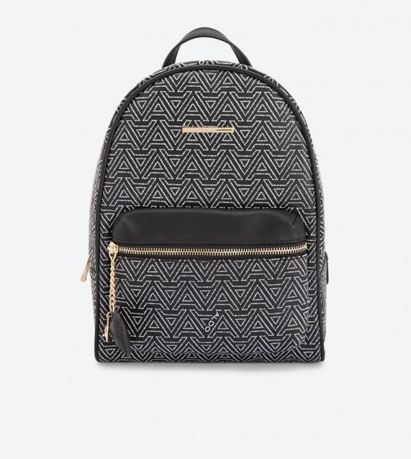 07cf141ae9e Home  Hanalei Zip Closure Printed Backpack - Black. 23340403-HANALEI-BLACK
