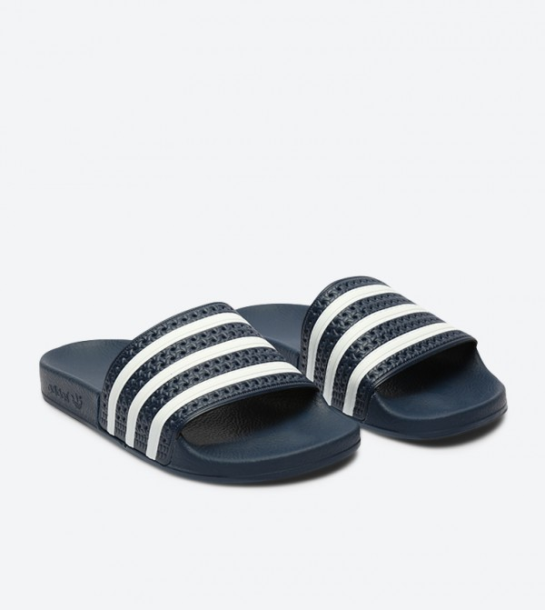 wholesale dealer b1df4 0be94 Adilette Slides - Navy 288022