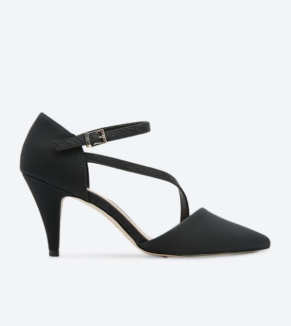 Call it Spring Migiana Ankle Strap Pointed Toe Pumps - Black
