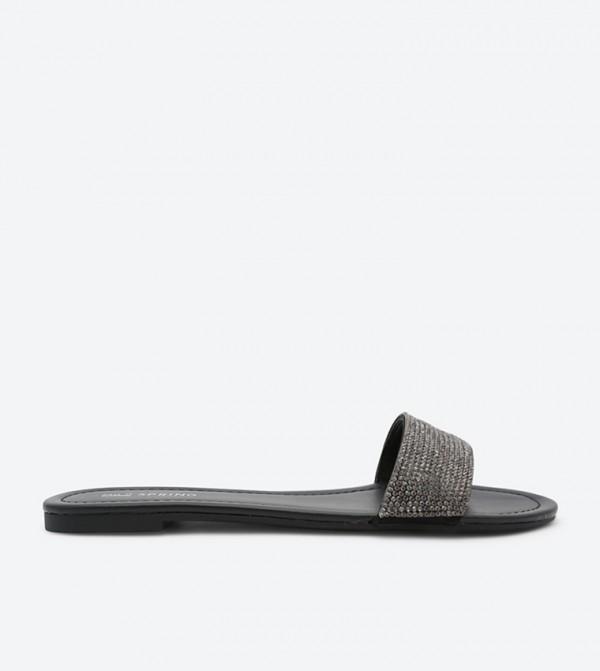 1ddc7d37a84 Call it Spring Alaossa Slide Sandals - Black