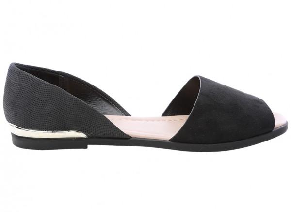حذاء أسود مسطح - شاونتي - 30110201-CHAUNTE_BLACK