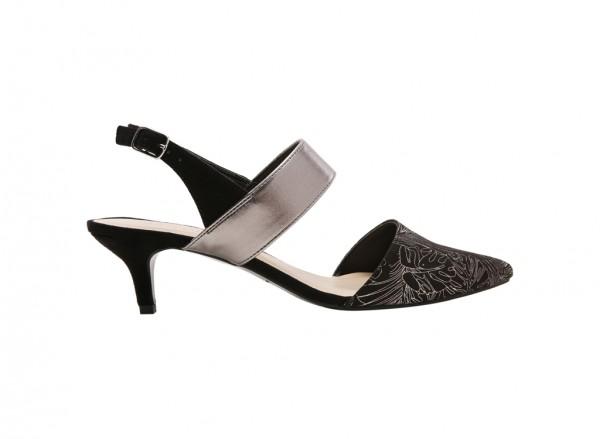 Carnara Black Mid Heel