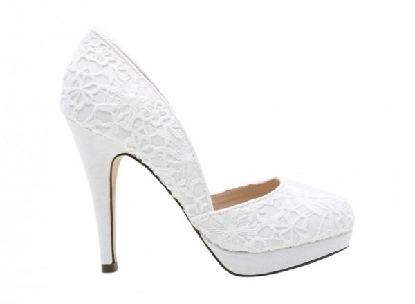 Alenasa White High Heel