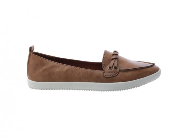 Quelinia Brown Slip-Ons