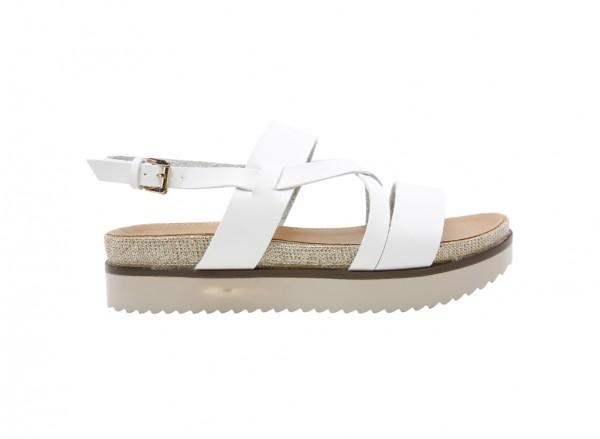 Nydudda White  Sandals