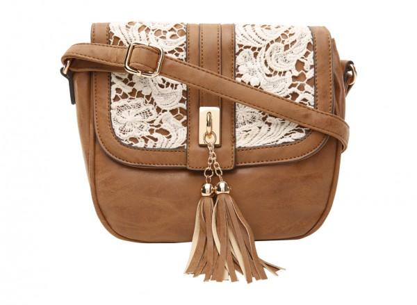 Fault Brown Cross Body Bag