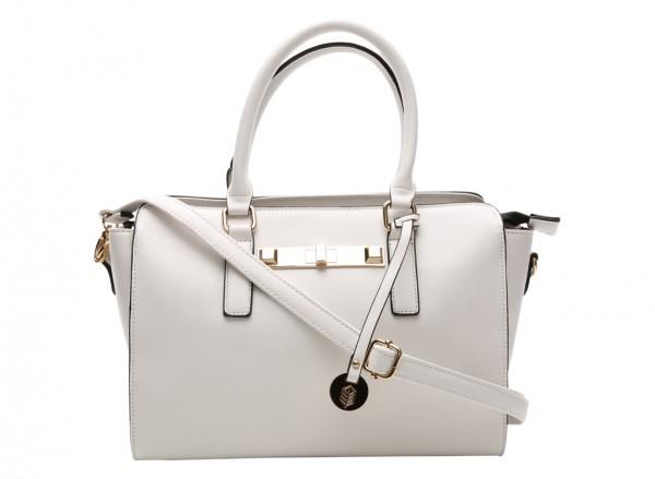 Hoitt White Totes Bags
