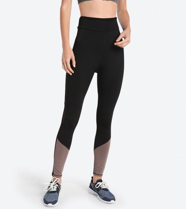 50de40c99d R B Elasticated Waistband Leggings - Black 318-1425WY004-2