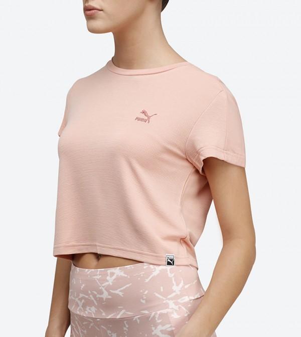 ec6a851c2189 Classic Structured Cropped T-Shirt - Peach 57506531