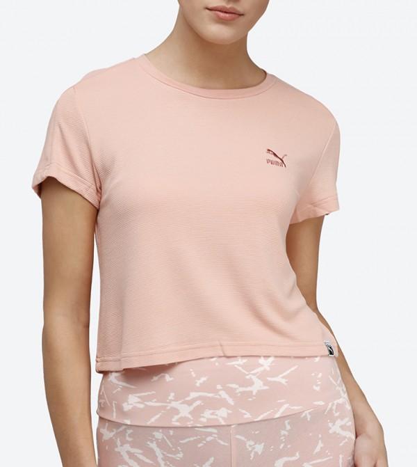1c03adabfd08 Home  Classic Structured Cropped T-Shirt - Peach 57506531. 57506531-PEACH- BEIGE