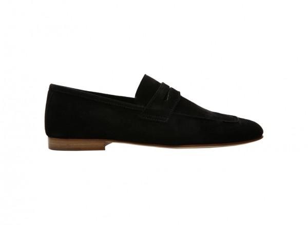 Camoscio Black Loafers - 680001