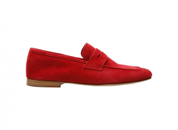 Camoscio Red Loafers - 680001