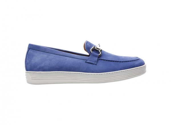 Nabuk Blue Loafers - 770001