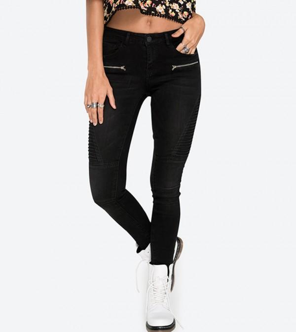 8302099bfad Home  Moto Denim Skinny Jeans - Black. 7B-AP00268-DARKWASH