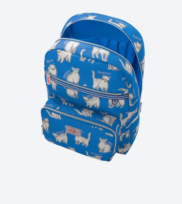 2092ccc872874 حقيبة ظهر كبيرة مطبعة بلون أزرق داكن