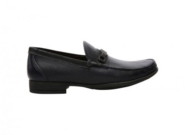 Lins Navy Slip-Ons - 838305