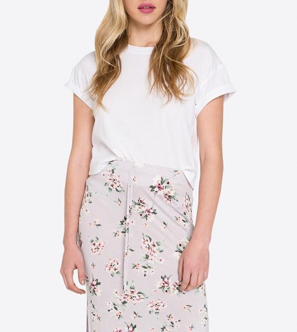 e461456a7a Ardene Floral Printed Maxi Skirt - Light Purple 8A-AP02076
