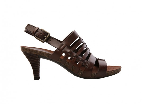 A-Ginger Brown Mid Heel
