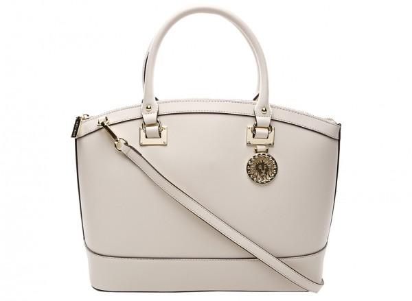 Anne Klein New Recruits Handbag Dome Satchel Lg For Women - Man Made White-AKAK60365959-BEIGE