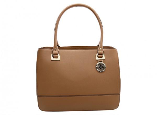 Anne Klein New Recruits Handbag Satchel Lg For Women - Man Made Brown