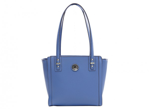 Anne Klein Front Runner Handbag Shopper Sm For Women - Man Made Blue