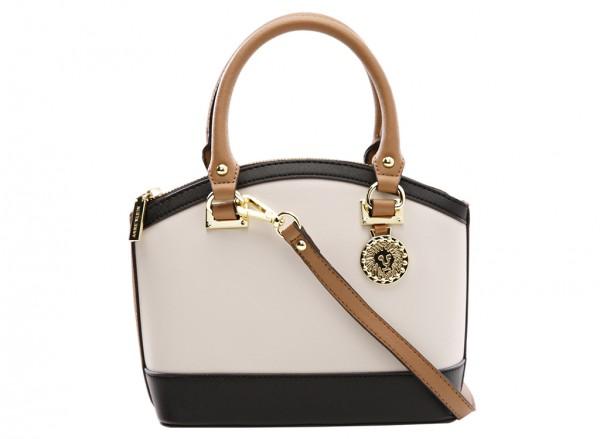 Anne Klein New Recruits Handbag Dome Satchel Sm For Women - Man Made White