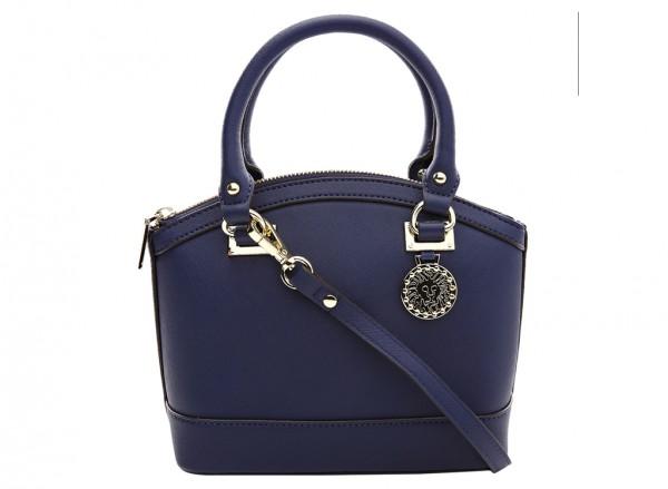 Anne Klein New Recruits Handbag Dome Satchel Sm For Women - Man Made Blue