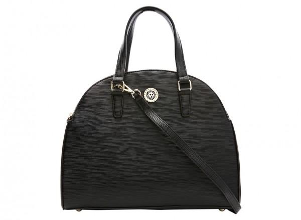 Anne Klein City Dweller  Handbag Dome Satchel Lg For Women - Man Made Black