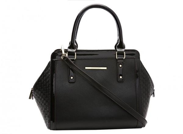 Anne Klein It?S The One Handbag Satchel Sm For Women - Man Made Black