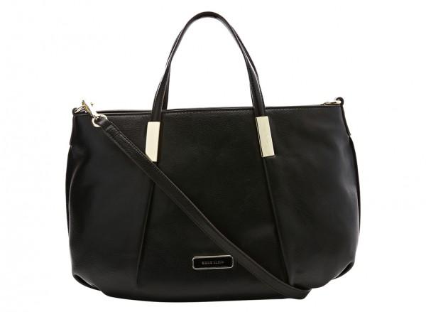 Anne Klein Style Achiever Handbag Satchel Md For Women - Man Made Black